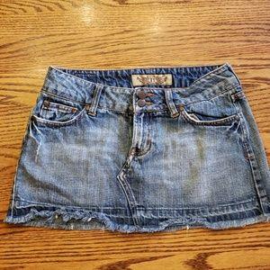 Hint Jean's Jean Mini Skirt Ditressed Jr Size 3